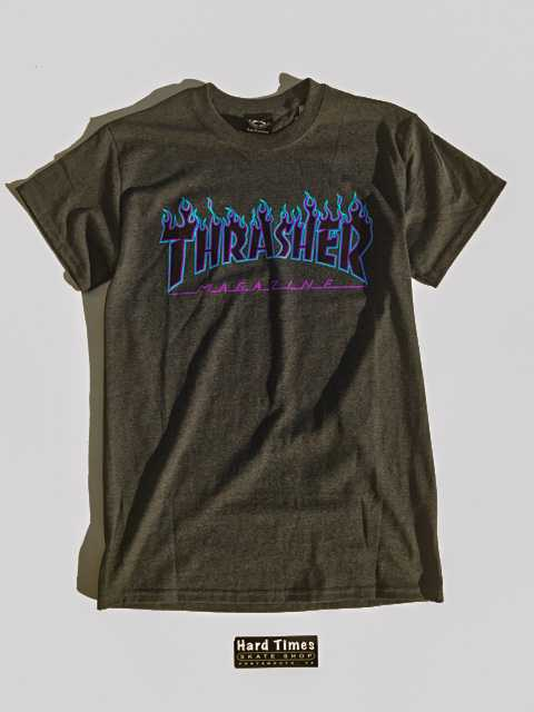 Thrasher Purple Flame Tee